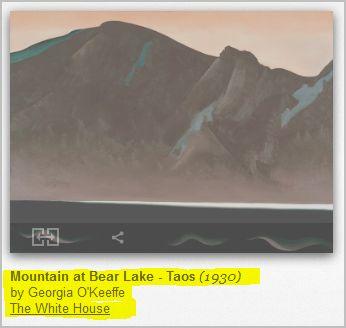 Visit Georgia O'Keeffe_Mountain at Bear Lake - Taos _1930_ At the White House
