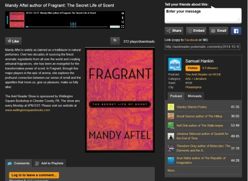 Fragrant:  The Secret Life of Scent Mandy Aftel