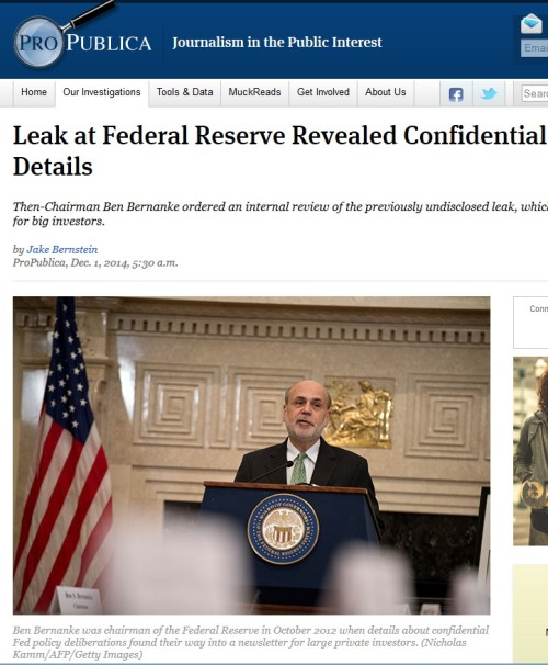 Leak at Federal Reserve Revealed Confidential Bond-Buying Details