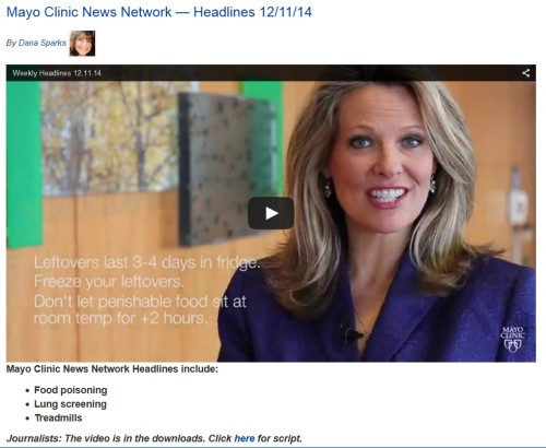 Mayo Clinic News Network — Headlines 12/11/14 (click to access story at Mayo Clinic News Network)