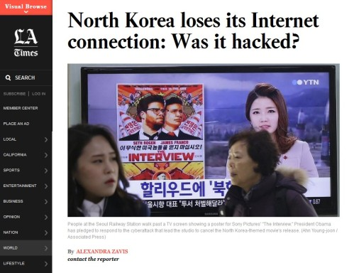 North Korea Loses Its Internet Connection