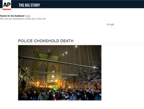 ASSOCIATED PRESS: Police Chokehold Death