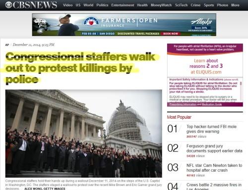 Congressional staffers walk out to protest killings by police