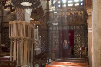 The Hanging Church is Cairo's most famous Coptic church first built in the AD 3rd or 4th century