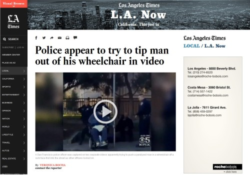 Police appear to try to tip man out of his wheelchair in video