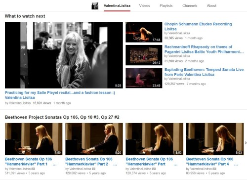 Valentina Lisitsa pianist visit her YouTube Channel
