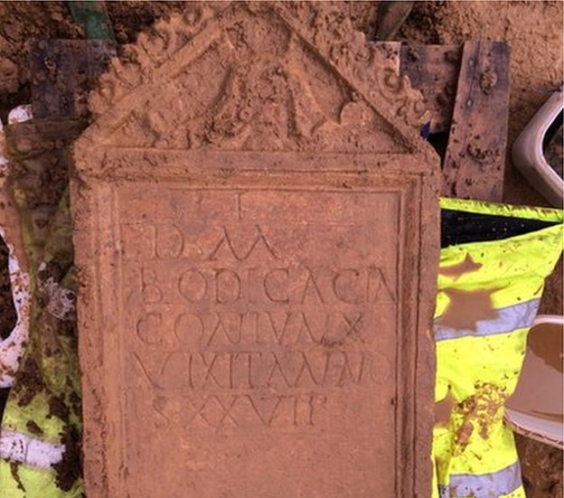 Archeology: Roman Headstone Discovered