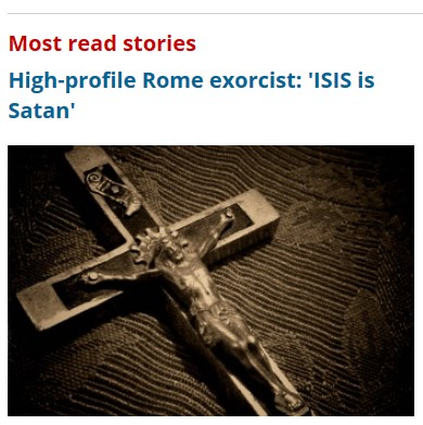 MOST READ STORIES - ISIS IS SATAN