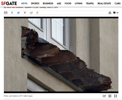 "The Berkeley apartment balcony that collapsed last week, killing six people and injuring seven, was supported by laminated wooden beams that are considered especially vulnerable to water damage and became ""severely dry rotted,"" a city inspection report released Tuesday showed."