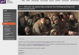 Have your say: please help us improve Your Paintings by filling in our quick and easy survey