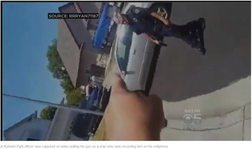 Police review video of Northern California officer pulling gun on man recording him