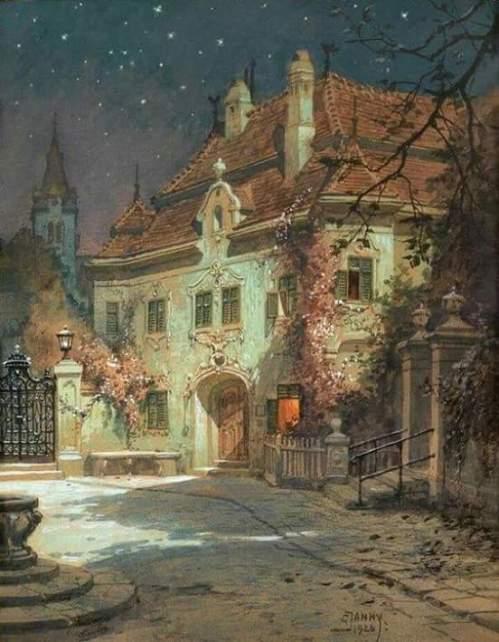 Georg Janny (1864-1935) - Summer night (1926)