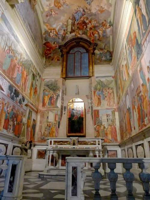 Another View of the Brancacci Chapel in Florence.. It was considered as the Sistine Chapel of the Early Renaissance period