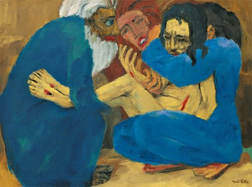 Emil Nolde, 1915, Die Grablegung (Begravelsen, The Burial), oil on canvas, 87 x 117 cm, Stiftung Nolde, Seebüll