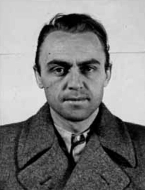 Alfred Naujocks (1911-1966), high-ranking German SS officer. Identification photograph taken by the U.S. Army after Naujocks had deserted to the American forces on 19 October 1944.