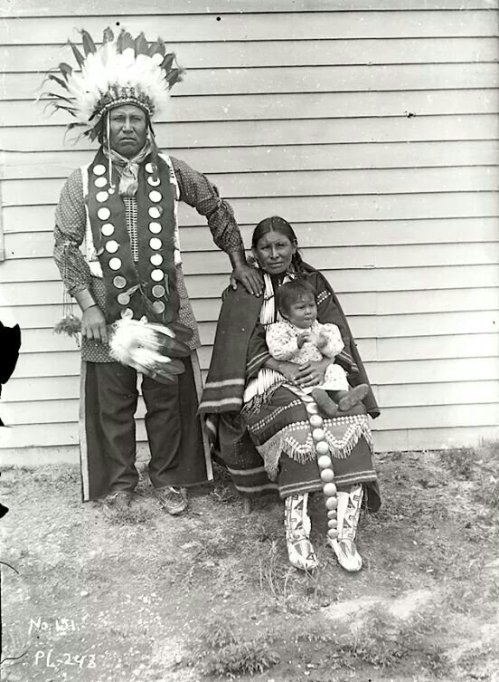 A Sioux family. South Dakota. ca. 1895-1899. Photo by Jesse H. Bratley. Source - Denver Museum of Nature & Science.