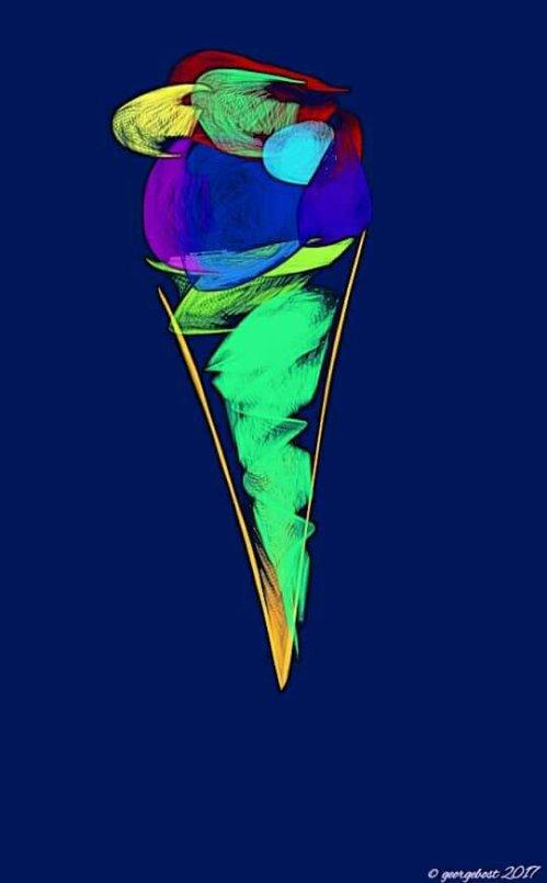 My pistachio ice cream cone