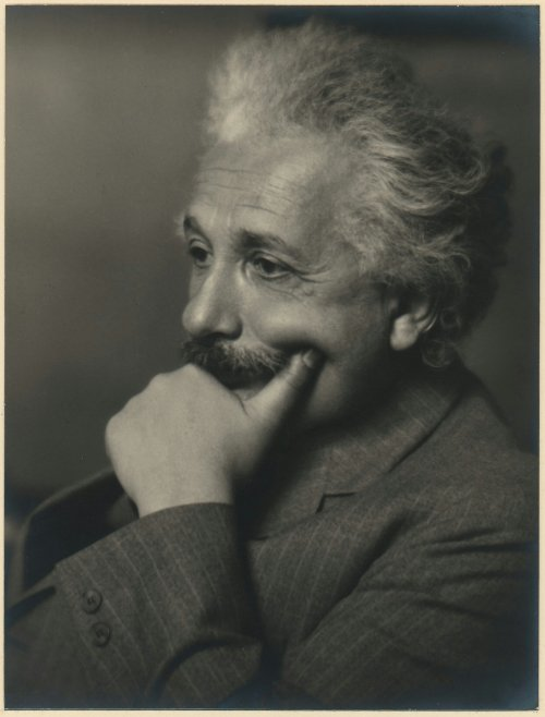 On this beautiful picture the intelligent character of Albert Einstein is clearly seen!