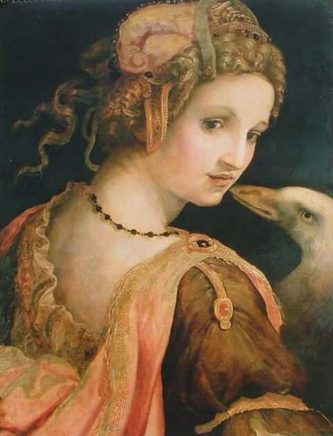 Michele Tosini (1503–1577) Leda y el cisne