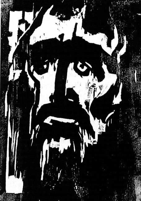 'The Prophet', woodcut by Emil Nolde, 1912, private collection