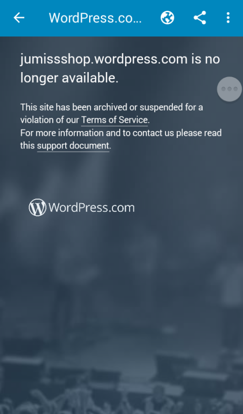 Jumidshop.wordpress.com: why is this blog allowed to become member to my website?
