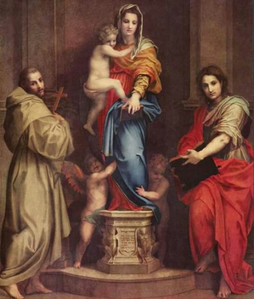 Andrea del Sarto(1486-1530) Madonna of the Harpies 1517 Oil on panel 207×178cm Uffizi Gallery; Florence