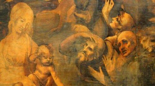 Adoration of the Magi by Leonardo, details – Uffizi Gallery