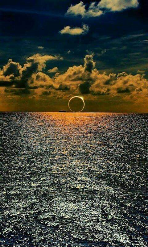 Solar Eclipse Over the South Pacific Ocean.