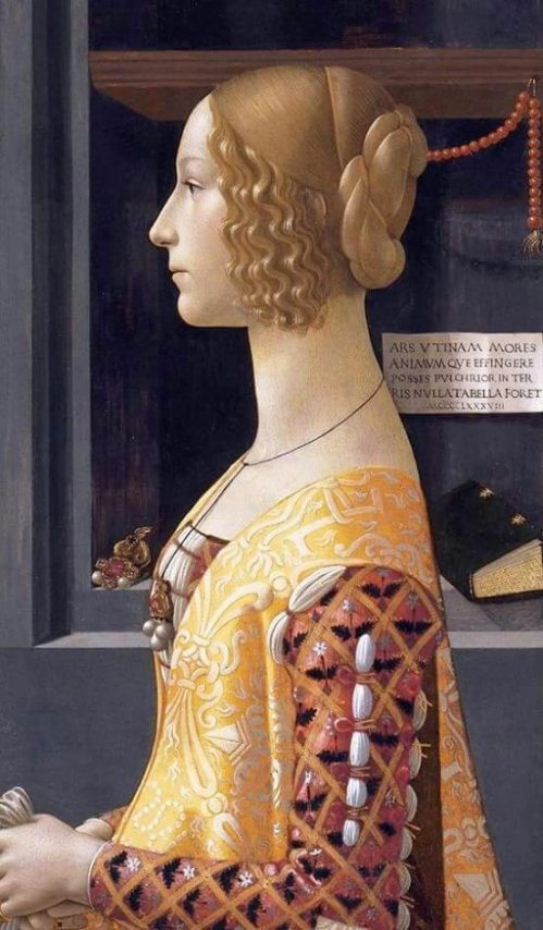 DOMENICO GHIRLANDAIO (1449 - 1494) - Portrait of Giovanna Tornabuoni - 1488. Thyssen-Bornemisza, Madrid.