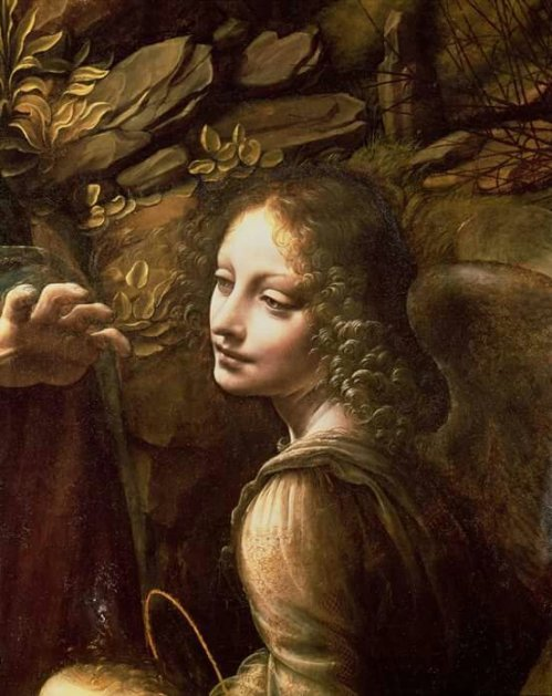 Leonardo da Vinci(1452-1519) The Virgin of the Rocks; Detail of the Angel National Gallery of London