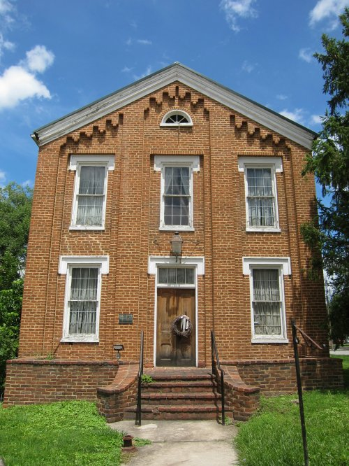 Literary Hall (1870) is a 19th century brick edifice located at the corner of Main (U.S. Route 50) and High (West Virginia Route 28) Streets in Romney in the U.S. state of West Virginia.