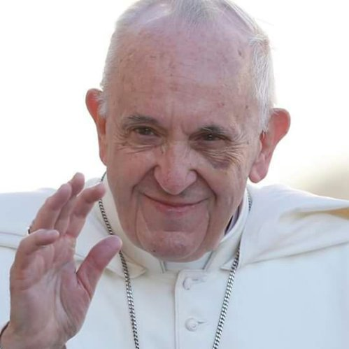 Pope Francis with left eye hematoma