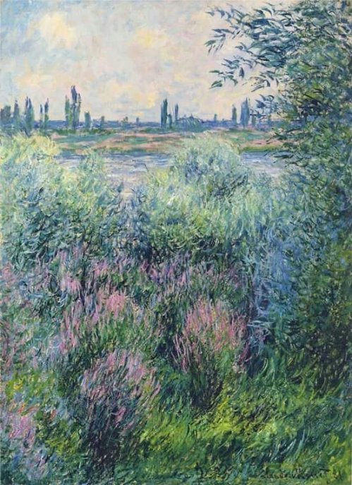 the River Seine; Claude Monet