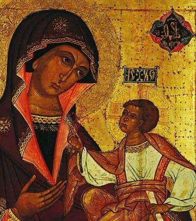 Our Lady of Jerusalem 17th century, Moscow School Tempera on wood panel 131.1 x 106.7 cm (51-5/8 x 42 in.)