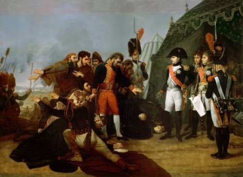 Napoleon accepts the surrender of Madrid, 4 December 1808