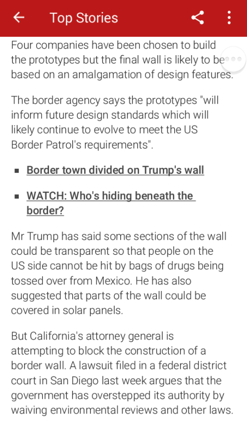 US-Mexico border wall prototype construction starts
