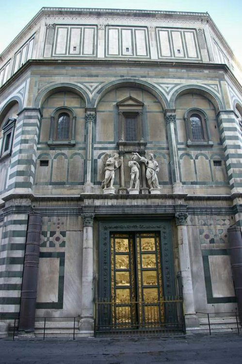 Detail View of Battistero di San Giovanni in Florence