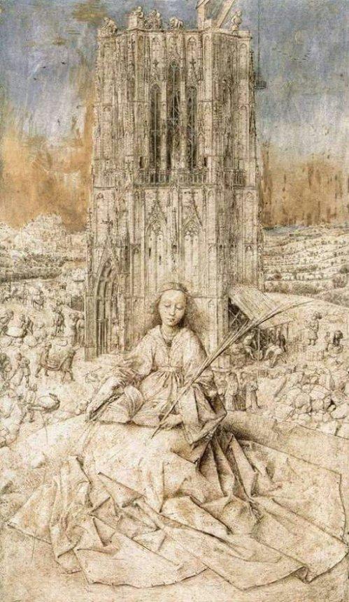 Jan van Eyck (c.1390 – 1441) - Saint Barbara - 1437, Koninkljink Museum voor Schone Kunsten - Antwerpen