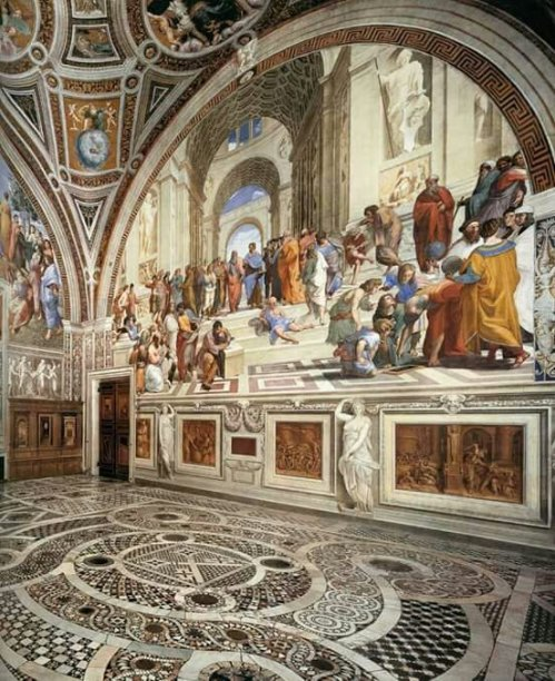 The School of Athens is a Fresco painting by Italian high Renaissance master Raphael