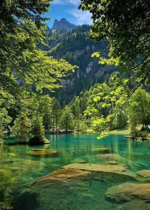Blue Lake, Kandersteg, Switzerland 😊💜
