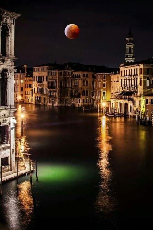 Beautiful Full Moon -Venice-Italy