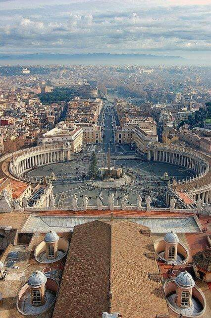 View from the top of St Peters Basilica, Vaticano, Rome !