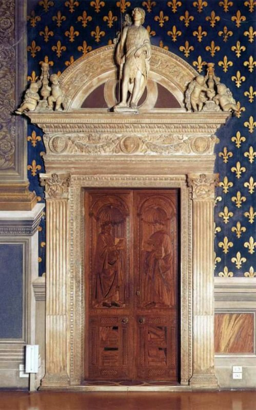 West Wall Portal of the Sala dei Gigli