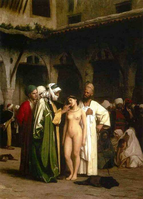 Jean-Léon Gérôme ( Fench Painter, 1824 – 1904)  –  The Slave Market 1866