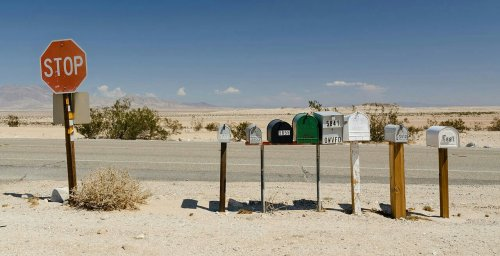 Letterboxes at Ocotillo Wells, CA, USA