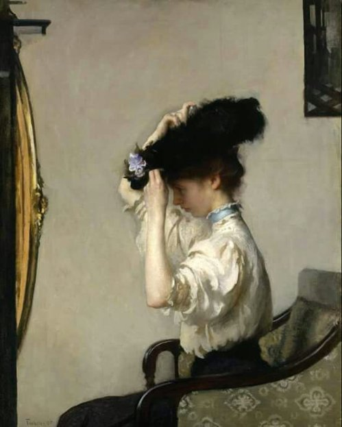 Tarbell, Edmund (American, 1862-1938) - Preparing for the Matinee - 1907