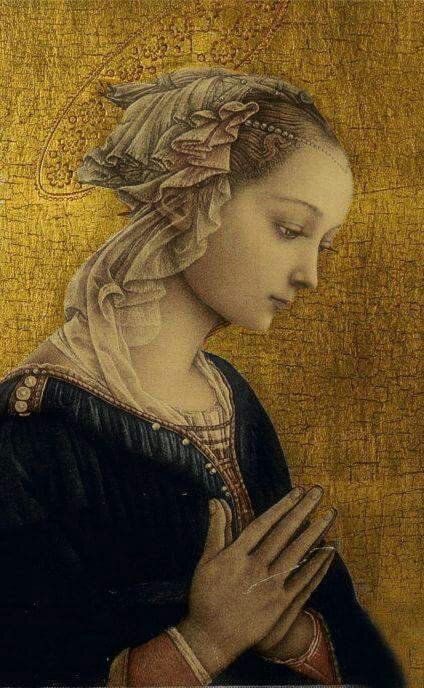@_@Madonna, Fra Filippo Lippi. Italian Early Renaissance Painter (1406-1469)