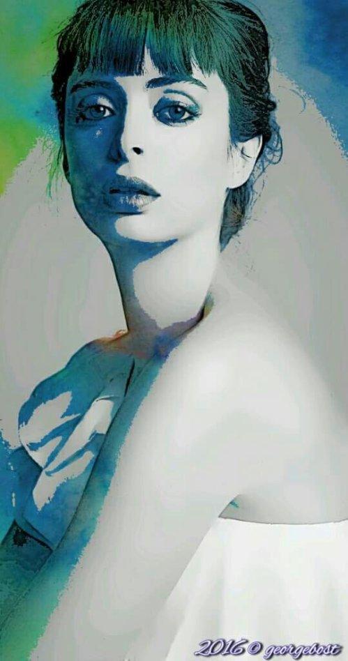 Krysten Ritter aka Jessica Jones   aquarelle