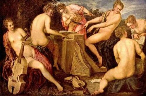 Tintoretto (Venetian, 1518-1594) - The Women's Concerto -2nd half 16th C.