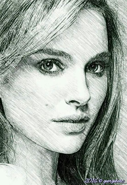 Natalie Portman  (a pencil sketch)